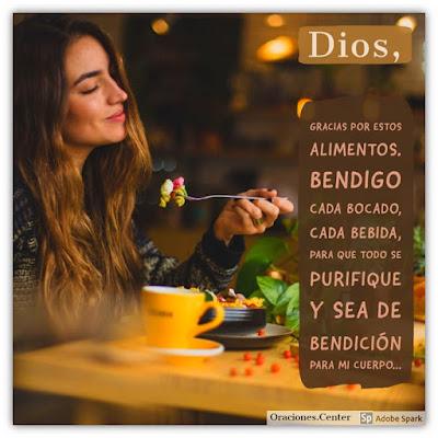 Oración de los Alimentos con Gratitud a Dios