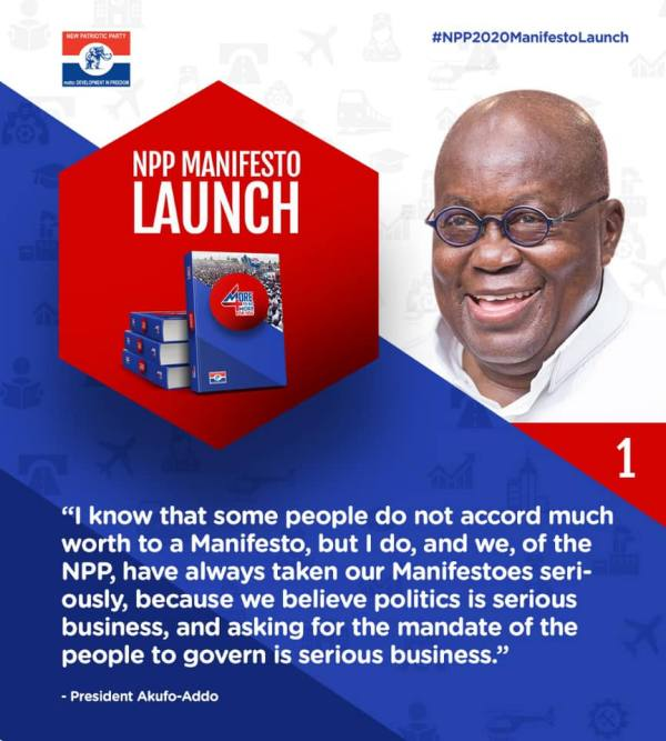 Speech By President Akufo-Addo At The Launch Of The 2020 Manifesto Of The New Patriotic Party