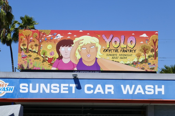 YOLO Crystal Fantasy series launch billboard