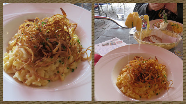 Cheese Spaetzle in Vaduz, Liechtenstein
