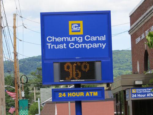 temperature sign 96 degrees
