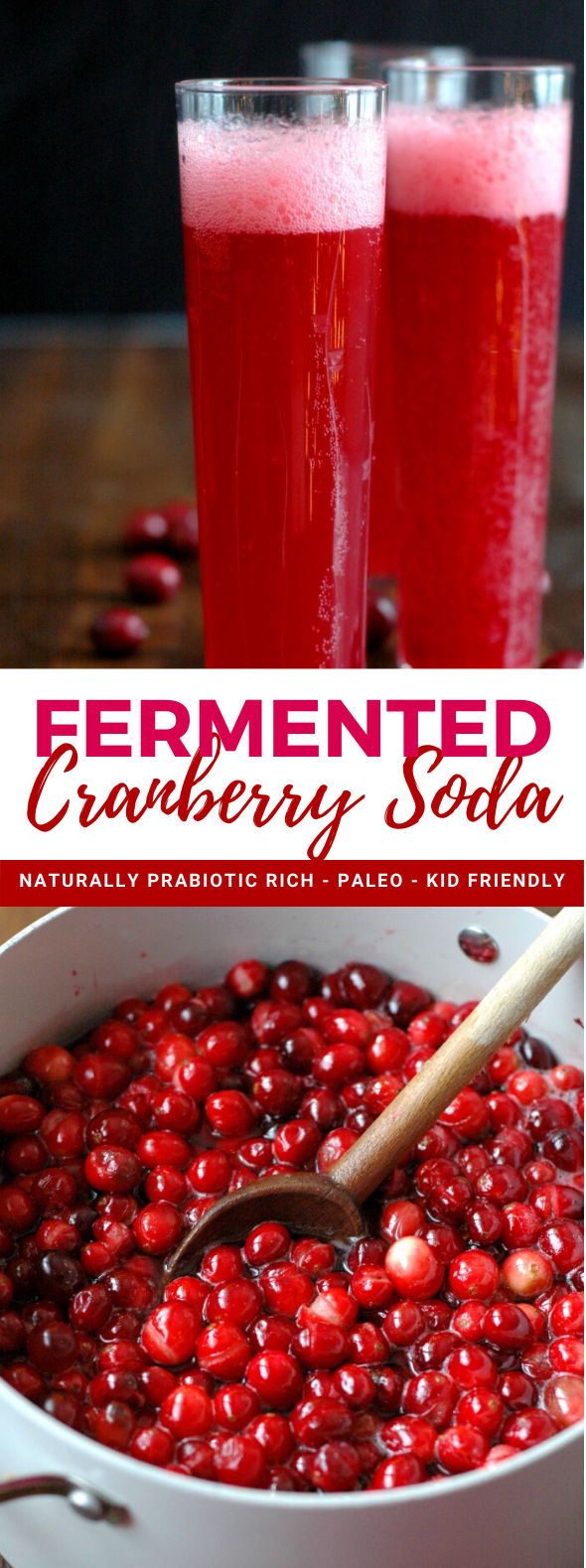 Fermented Cranberry Soda #drinks #cocktails