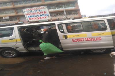 Matatu parked in eldoret.