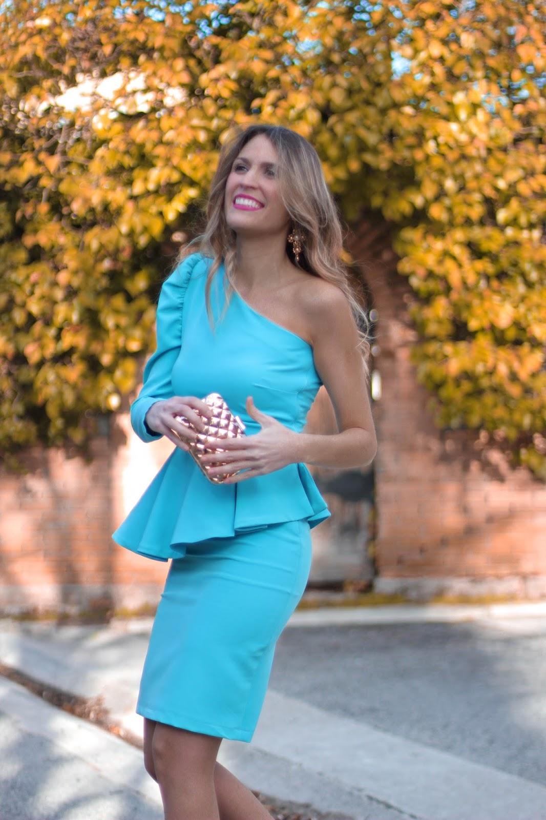 vestido azul fiesta