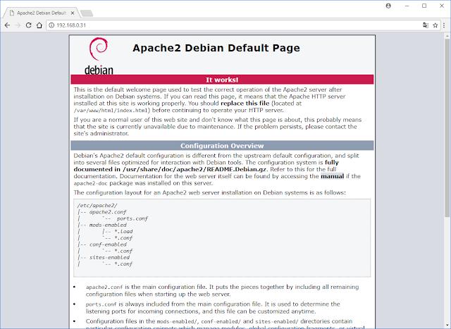 Página Inicial Apache Web Server