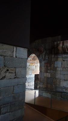 interior de la torre del castillo de la Concepción en Cartagena