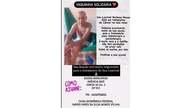 AJUDE, COLABORE: Família pede ajuda para custear tratamento de valenciano com câncer