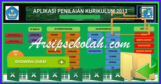 Download Aplikasi Penilaian Kurikulum 2013 Sd Mi Kelas 1 2