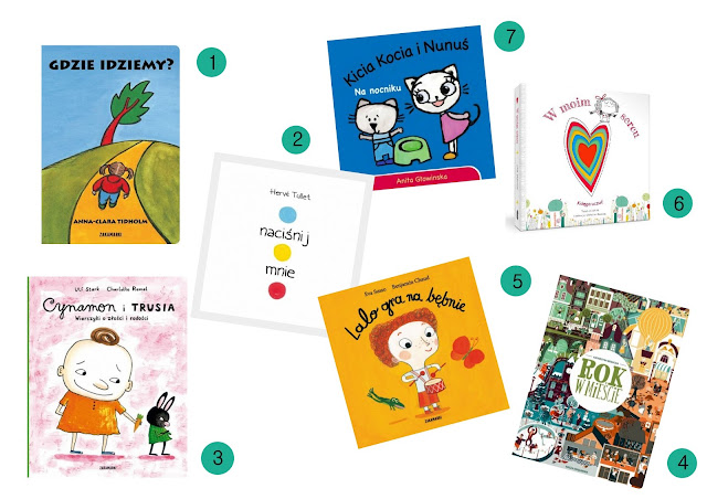 książki, zabawki na 1 urodziny dziecka
