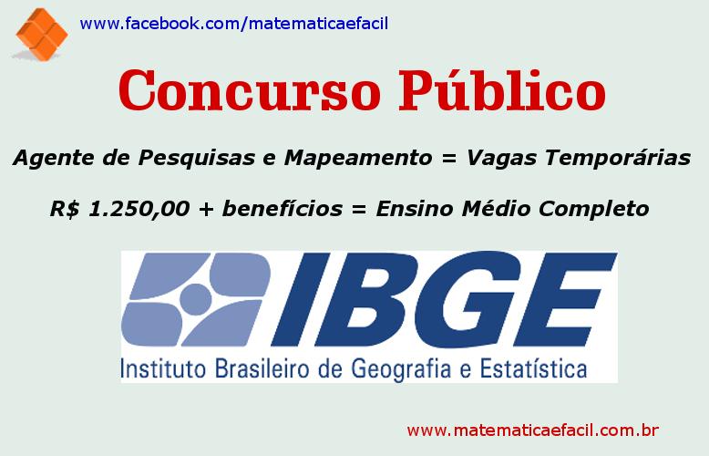Concurso Público para o IBGE