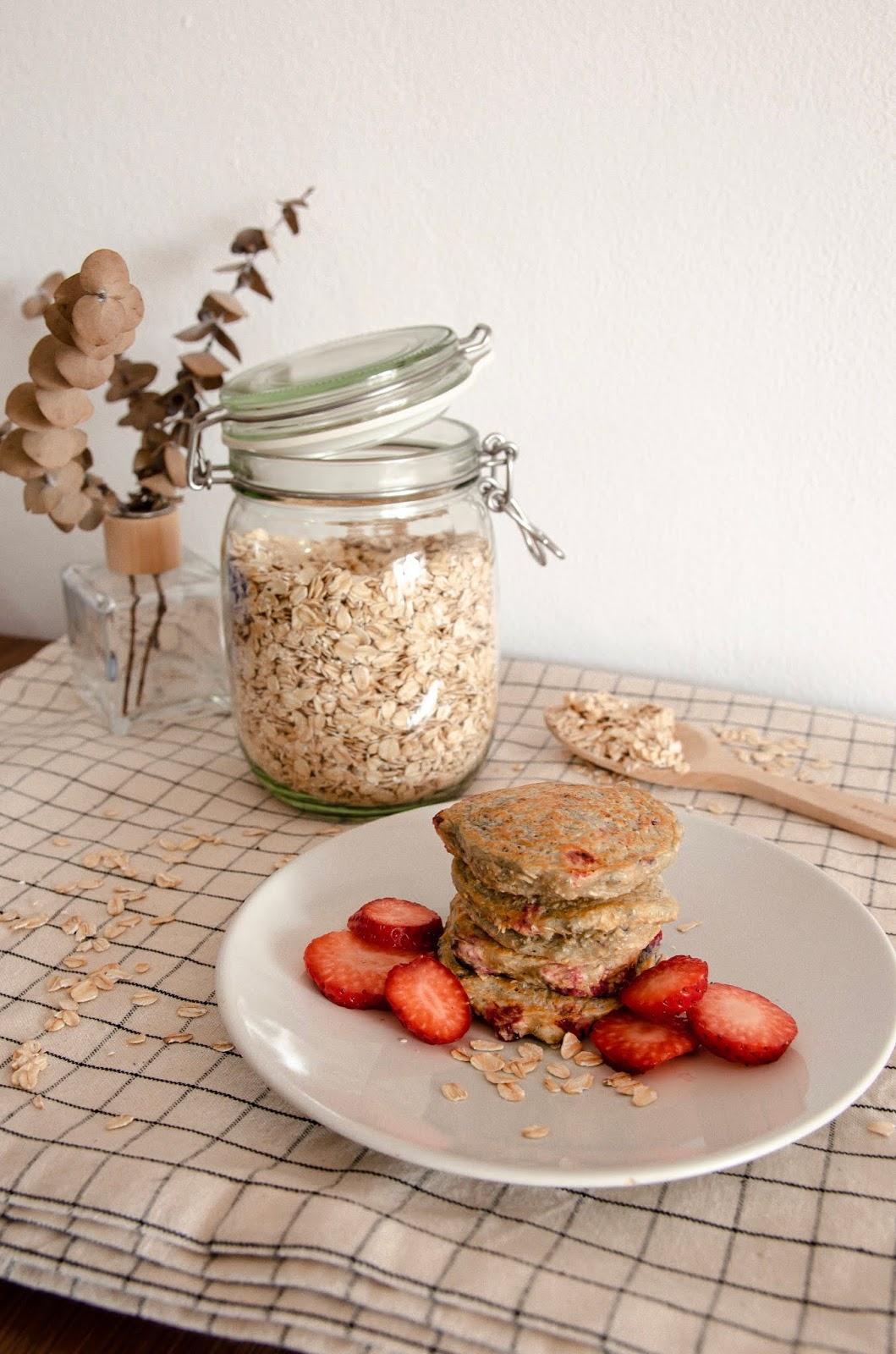 Tortitas de avena y frutos rojos para Método Baby led Weaning (+6)