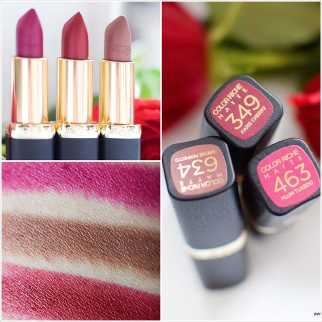 L'Oréal Color Riche, matte Lippenstifte, La Palette Matte, Swatch