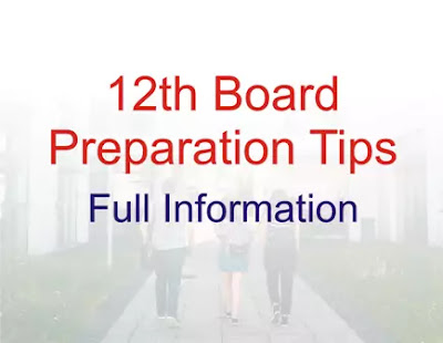 Study Plan for 12th Boards
