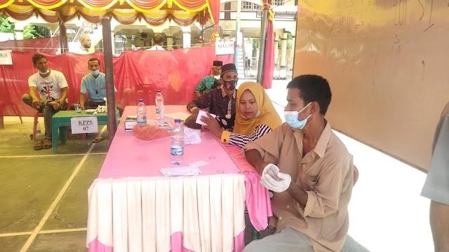 Terapkan Prokes,  Desa Asan AB Gelar Pemilihan Geuchik Masa Periode 2021 - 2027