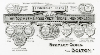 Bromley Cross Laundry advert c1900