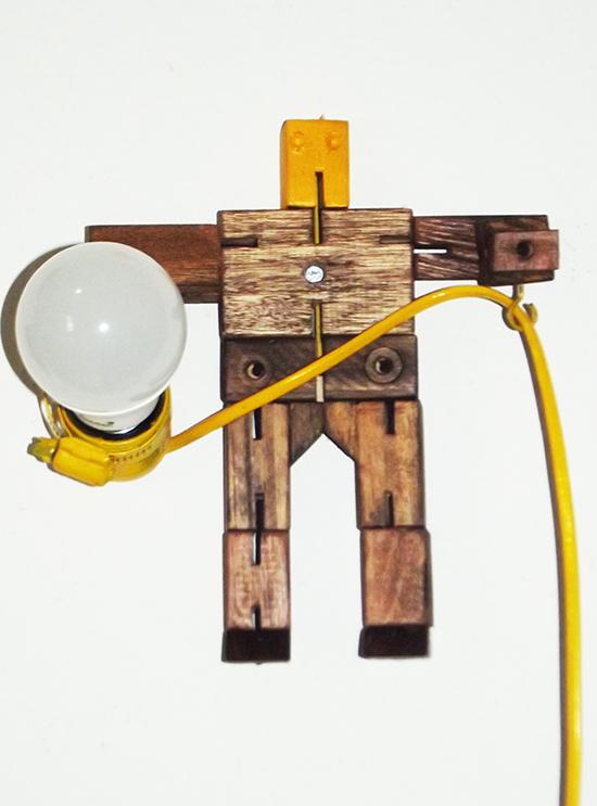 luminária articulada, faça você mesmo, diy, luminária de madeira
