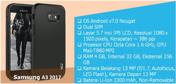 smartphone samsung terbaru ram besar galaxy a3 2017