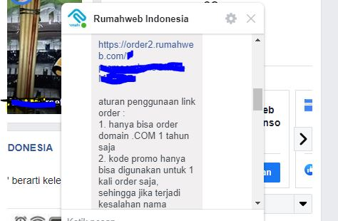 Dapat Domain Com Murah dari Rumah Web Hanya 74 Ribu