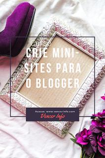 curso crie  mini sites para blogger.