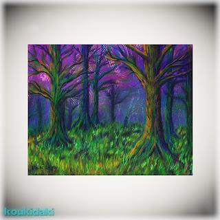 Πίνακας ζωγραφικής τής Stephanie Elaine Smith (Dark Forest)