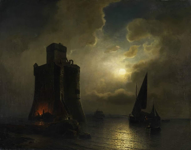 Julius Kohnholz - Nocturnal watchtower by the sea