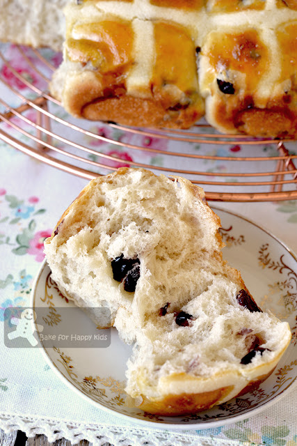 super soft cranberry vanilla hot cross buns less sugar