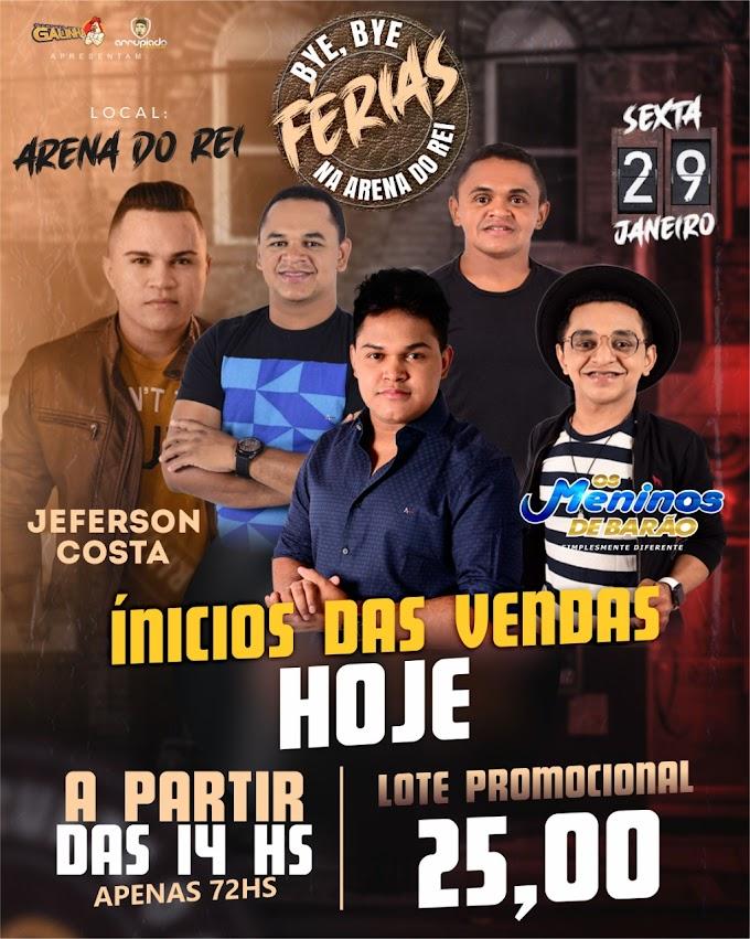 """""""DA HORA"""" - Bye, Bye Férias dia 29 de Janeiro na Arena do Rei com Os Meninos de Barão"""