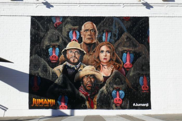 Jumanji Next Level Mandrill wall mural ad