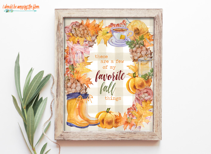 Favorite Fall Things Printable