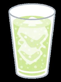 炭酸飲料のイラスト(緑)