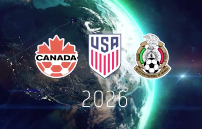 FIFA World Cup 2026, Canada, US & Mexico host countries, held in 16 host cities.