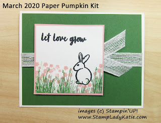 card made with the rabbit bunny from the March 2020 Paper Pumpkin Kit: No Matter the Weather