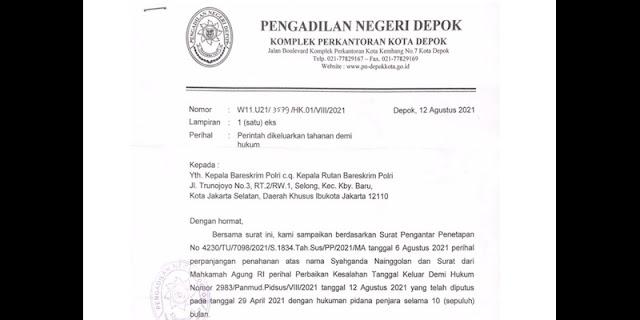PN Depok Perintahkan Bareskrim Mabes Polri Keluarkan Syahganda dari Rutan, Tapi Belum Ada Tanda-tanda
