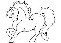 דף צביעה סוס