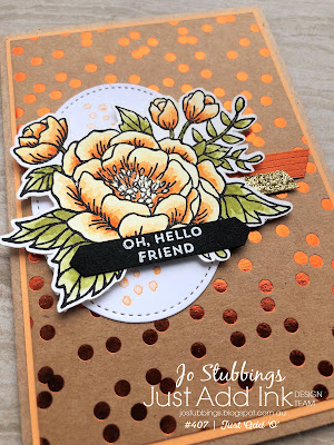 Jo's Stamping Spot - Just Add Ink #407 using Birthday Blooms by Stampin' Up!