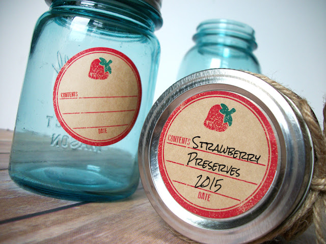 strawberry canning labels