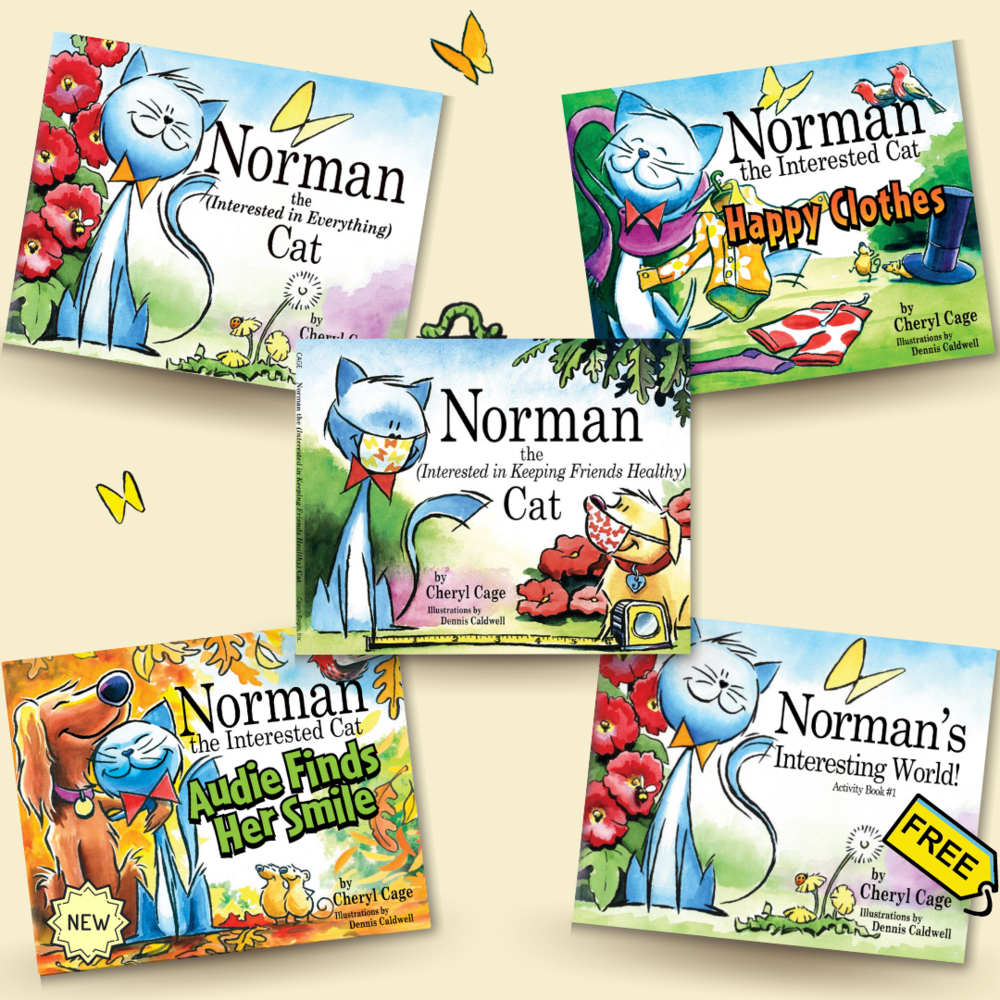 Norman the Interested Cat Book Series (4)