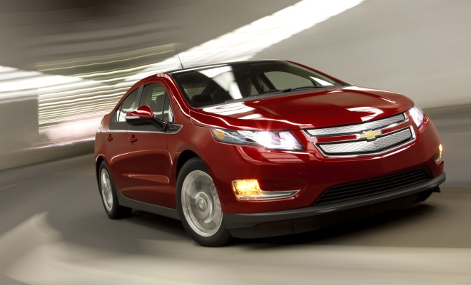 Chevy Volt from the front