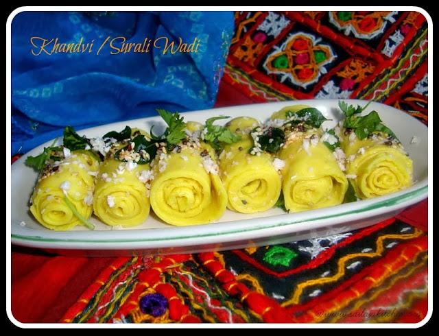 images of Khandvi Recipe / Kandvi  Recipe / Besan Khandvi Recipe /Surali Wadi / Surali Vadi / Suralichi Wadi  - A Gujarati Snack