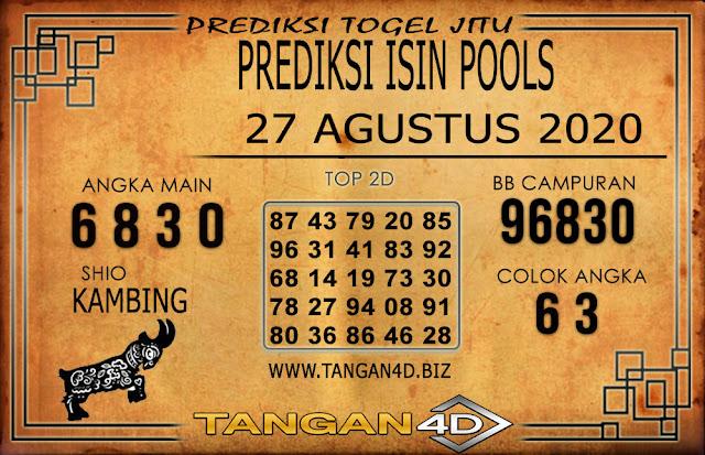 PREDIKSI TOGEL ISIN TANGAN4D 27 AGUSTUS 2020