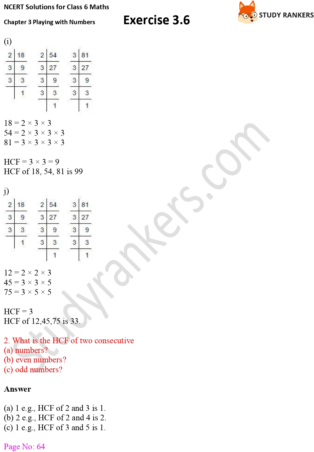 NCERT Solutions for Class 6 Maths Chapter 3 Playing with Numbers Exercise 3.6 Part 4