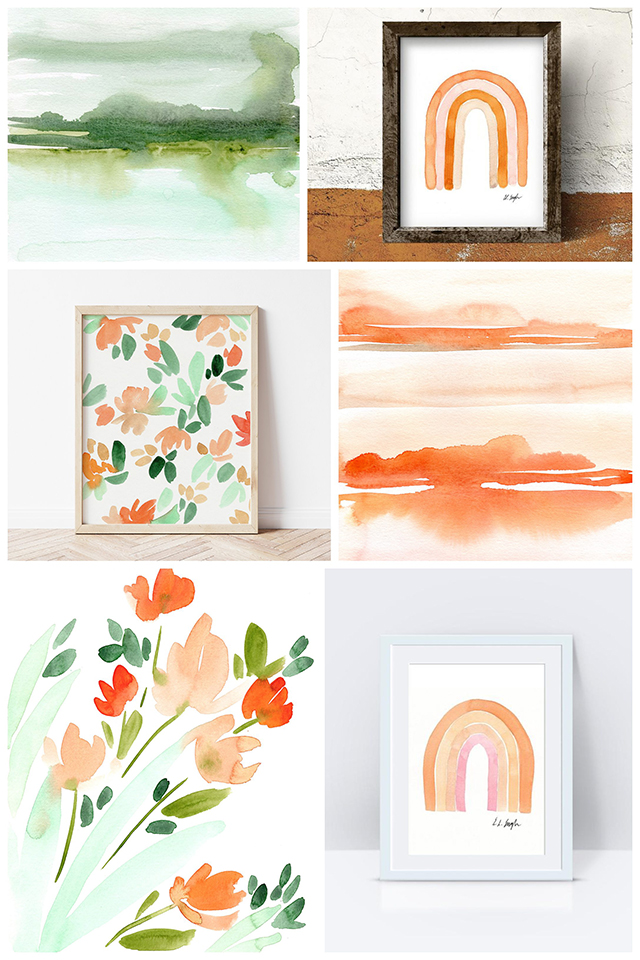 Original Abstract Watercolor Art by Elise Engh