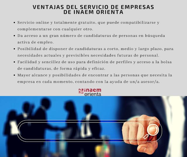 Ventajas del servicio de empresas de Inaem Orienta