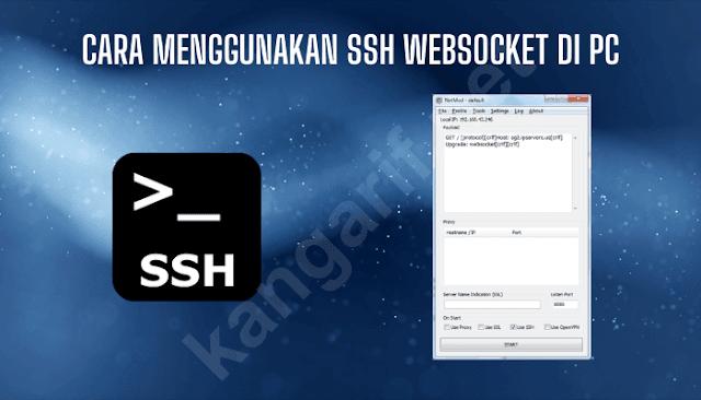 cara menggunakan ssh websocket di pc windows