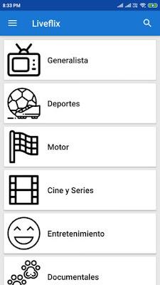 تطبيق Liveflix, مشاهدة قنوات بي ان سبوري Bein Sports، سكاي سبورت، القنوات الرياضية