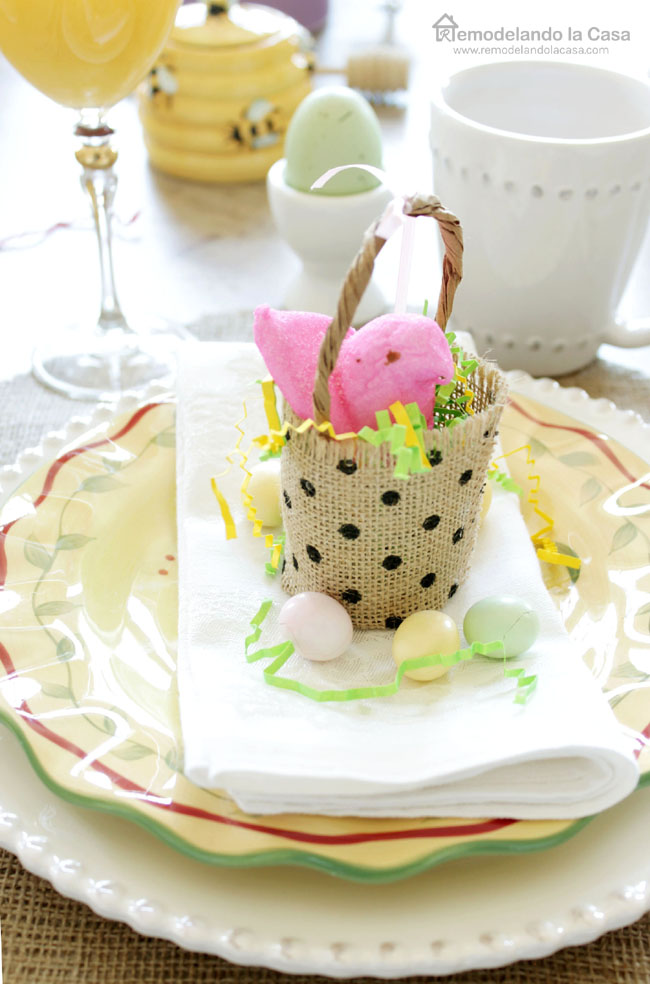 DIY easter table