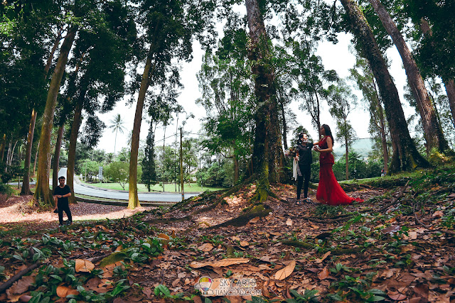 The third pre-wedding shooting location in FRIM Kepong