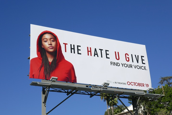 Hate U Give movie billboard