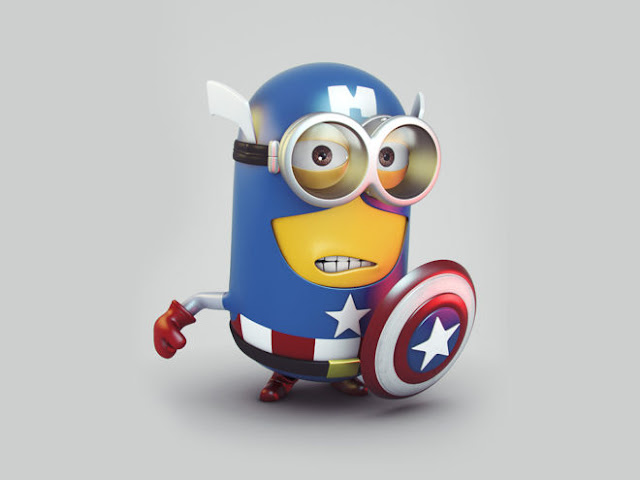 Cute Minion Captain America HD Wallpapers