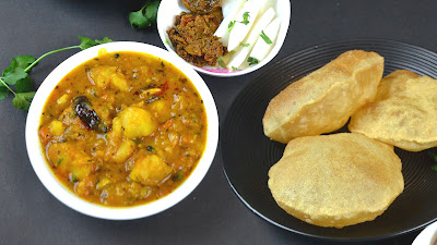 indian lunch recipe aloo puri